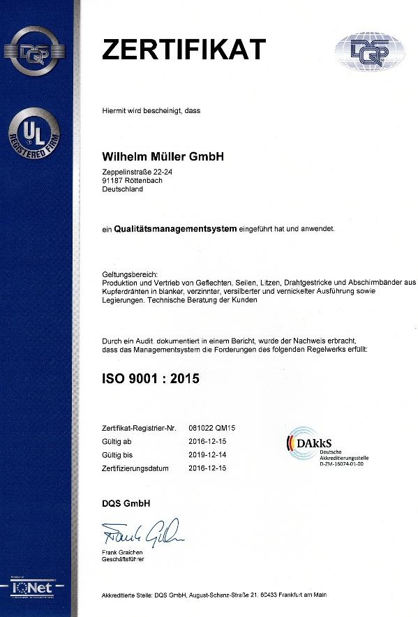 Zertifikat ISO9001
